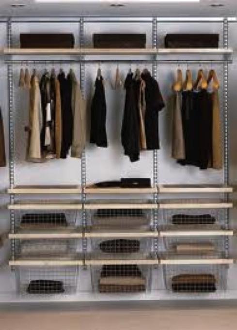 De-cluttered wardrobe