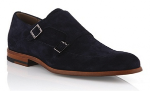 Boss suede double buckle shoes