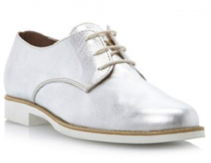 Dune metallic leather lace up