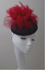Frivolous feathered beret