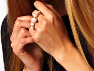 Asos double finger ring