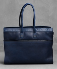 Blue leather tote from & Other Stories