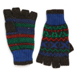 Mens fingerless gloves from Topman
