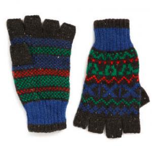 Mens fingerless gloves from Topman
